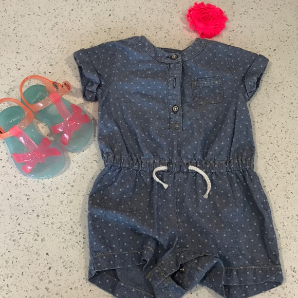 272a5c93a Carter's One Pieces   Carters Baby Girl Romper   Poshmark
